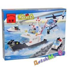 Конструктор (Brick) Катер, вертолет, машина (аналог LEGO)